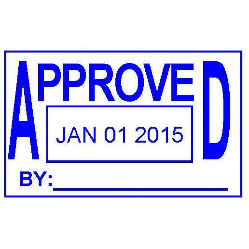 ASD102 - Approved Date Stamp - School Office & Business Office Stamps